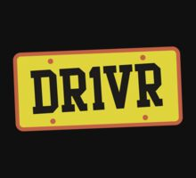 DR1VER (DRIVER) driving licence plate One Piece - Short Sleeve