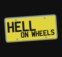 HELL on WHEELS on a licence plate DRIVER! One Piece - Long Sleeve