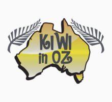 KIWI in OZ! Australian Aussie map  Kids Tee