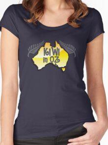 KIWI in OZ! Australian Aussie map  Women's Fitted Scoop T-Shirt