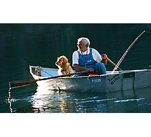 Man and His Dog Photographic Print