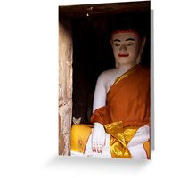 Le chat de Bouddha Greeting Card