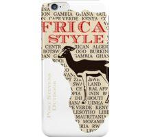 Gazelle - Antelope - Africa in Style iPhone Case/Skin
