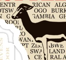 Gazelle - Antelope - Africa in Style Sticker
