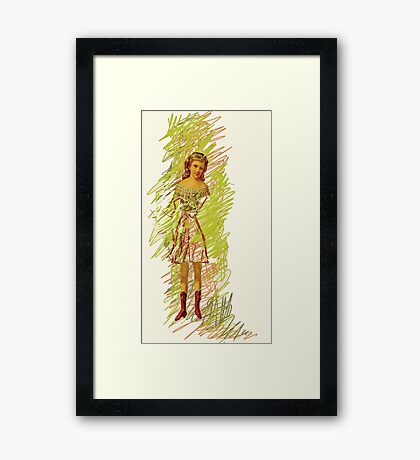 doll with red shoes, 2011 Framed Print