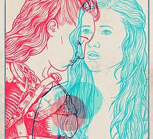 The 100 3D (Clexa Anaglyph) by grendillo