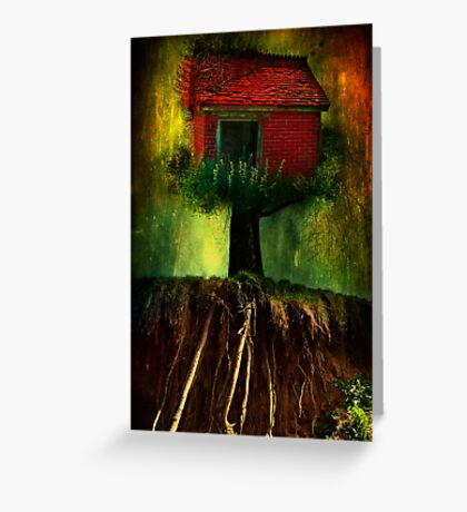 Red House In A Tree Greeting Card