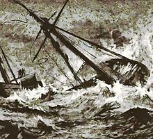 The Wreck of the Wool Packet on Bideford Bar ca.1880 by Dennis Melling
