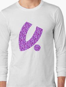 """""""V For Bandana"""" - Deep Purple Long Sleeve T-Shirt"""