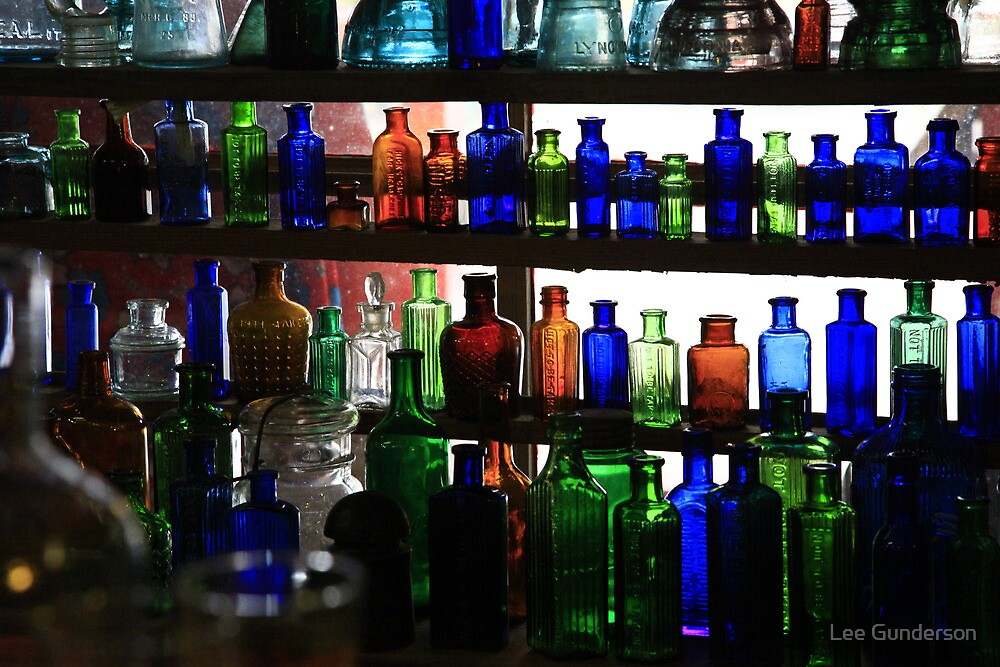 Ancient Chinese bottles by Lee Gunderson