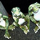Three wise froggies by ♥⊱ B. Randi Bailey