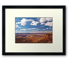 Canyonland vista from Island in the Sky Framed Print