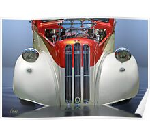 Candy Cane Hot Rod Poster