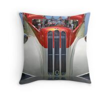 Candy Cane Hot Rod Throw Pillow