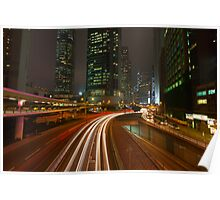 Connaught Road at Night. Poster