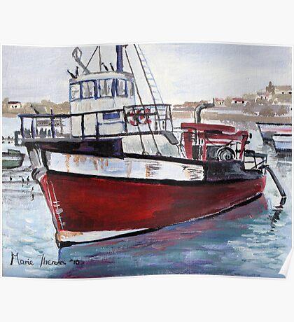 Diamond Trawler at Lambert's Bay Poster