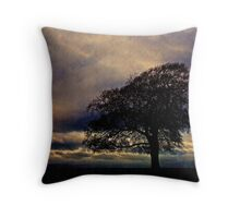 Moody Tree landscape, Gloucestershire, UK Throw Pillow