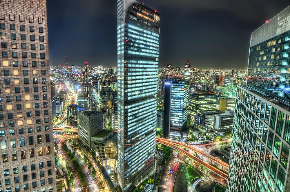 Tokyo by Night - Shimbashi | Japan by 4colourprogress