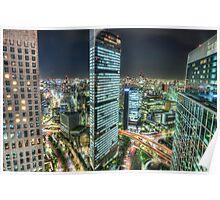 Tokyo by Night - Shimbashi | Japan Poster