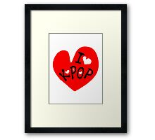 I love k-pop txt heart vector graphic line art Framed Print