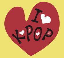 I love k-pop txt heart vector graphic line art One Piece - Short Sleeve