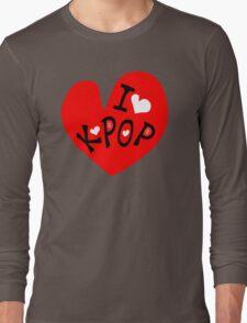 I love k-pop txt heart vector graphic line art Long Sleeve T-Shirt