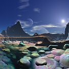 Morning on Rainbow Pebble Bay by SpinningAngel