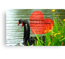 Could You Be Mine... Swans - NZ Valentines Card Canvas Print