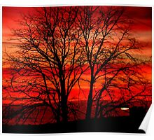 Pendle Sunset Poster
