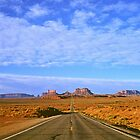 Highway 163 to Monument Valley by Alex Cassels