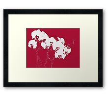 Red Orchids Framed Print