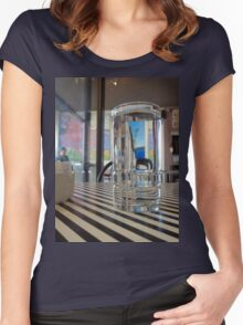 IN THE CAFE Women's Fitted Scoop T-Shirt