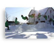 Ski Montage Canvas Print
