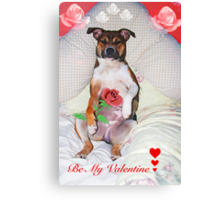 Be My Valentine xx Canvas Print