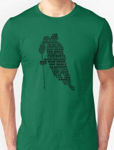 Hockey Player Typography T-Shirt
