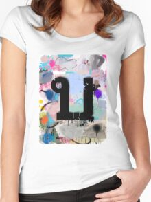 """Thai Characters """"บ"""" Women's Fitted Scoop T-Shirt"""