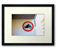 Motorcycle - Vienna Framed Print