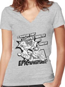 Epic Adventures! Women's Fitted V-Neck T-Shirt