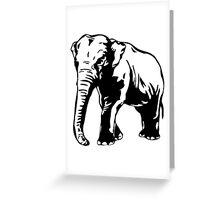 Asia Elephant Greeting Card