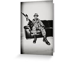 Boy Soldier Greeting Card