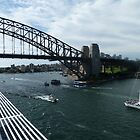 Going Under The Sydney Harbour Bridge by joycee