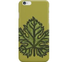 Green Leather Grape Leaf - Leaves, Vineyard, Wine, Dionysus, Bacchus, Grapevine iPhone Case/Skin
