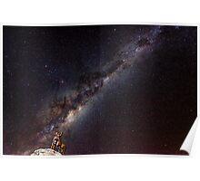 Tekapo Sheep Dog Milky Way Poster