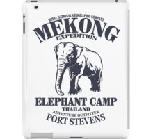 Mekong Expedition - Elephant Camp iPad Case/Skin