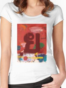 """Thai Characters """"ย"""" Women's Fitted Scoop T-Shirt"""