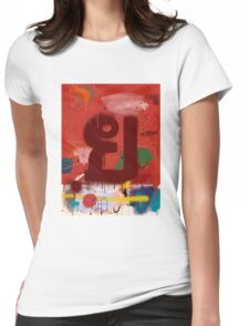 """Thai Characters """"ย"""" Womens Fitted T-Shirt"""