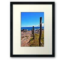 Riding the Fence Framed Print