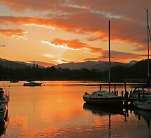 Waterhead Sunset by Linda Lyon