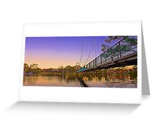 Northam Suspension Bridge - Western Australia  Greeting Card
