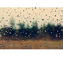 Rain Drops - Bonney Lake, WA Photographic Print
